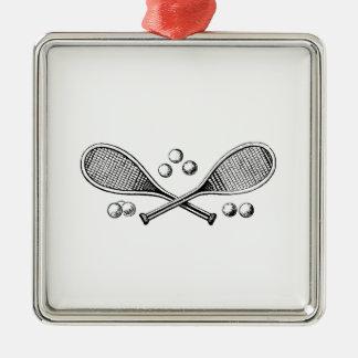 Ornamento De Metal Bolas de tênis cruzadas vintage da raquete de