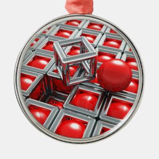 Ornamento De Metal bolas do cromo