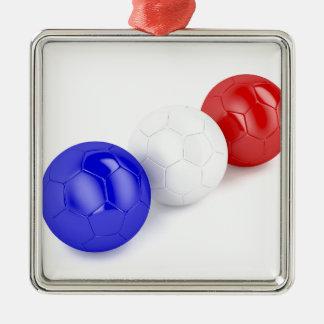 Ornamento De Metal Bolas do futebol com a bandeira de France