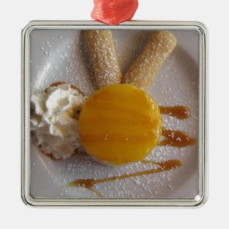 Ornamento De Metal Bolo coberto doce do sorvete do abricó