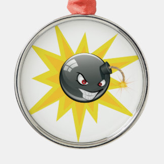 Ornamento De Metal Bomba redonda má