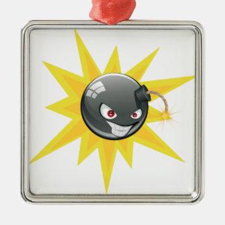 Ornamento De Metal Bomba redonda má 2