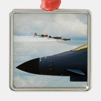 Ornamento De Metal Bombardeiro B-1 e lutadores de WWII