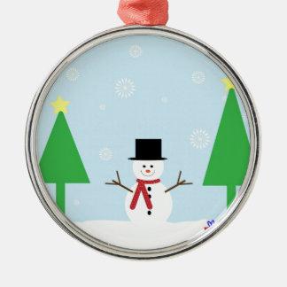 Ornamento De Metal Boneco de neve do Natal