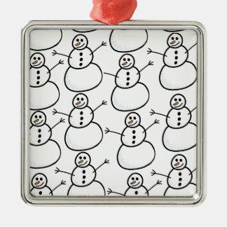 Ornamento De Metal Bonecos de neve