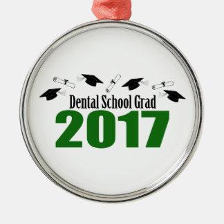 Ornamento De Metal Bonés do formando 2017 da escola dental e diplomas