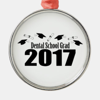 Ornamento De Metal Bonés do formando 2017 da escola dental e diplomas