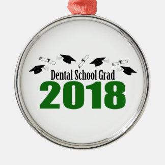 Ornamento De Metal Bonés do formando 2018 da escola dental e diplomas