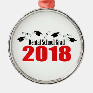 Ornamento De Metal Bonés e diplomas do formando 2018 da escola dental