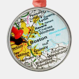 Ornamento De Metal Boston, Massachusetts
