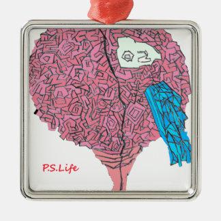 Ornamento De Metal Brainy