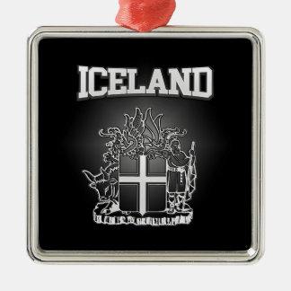 Ornamento De Metal Brasão de Islândia