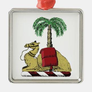 Ornamento De Metal Brasão heráldica da cor da palmeira do camelo