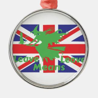 Ornamento De Metal brexit