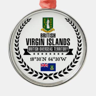 Ornamento De Metal British Virgin Islands