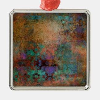 Ornamento De Metal Bronze, cerceta, abstrato do roxo