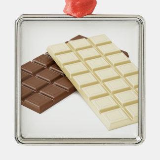Ornamento De Metal Brown e bares de chocolate brancos