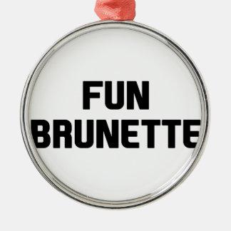 Ornamento De Metal Brunette do divertimento