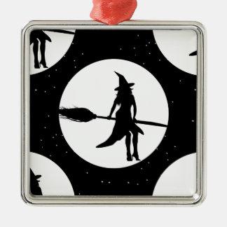 Ornamento De Metal bruxa do Dia das Bruxas