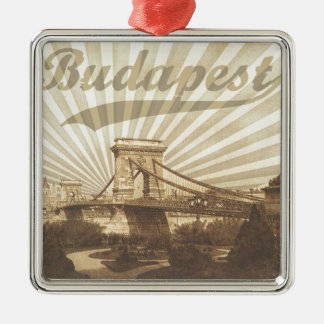 Ornamento De Metal Budapest Chain Bridge Vintage