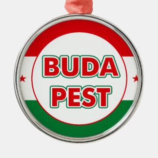 Ornamento De Metal Budapest, circle, color
