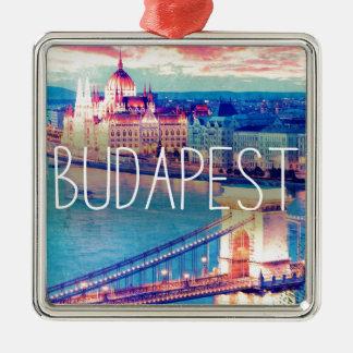 Ornamento De Metal Budapest, vintage poster