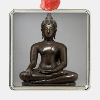 Ornamento De Metal Buddha assentado - século XV