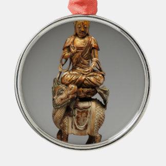 Ornamento De Metal Buddha Shakyamuni com bodhisattvas assistentes