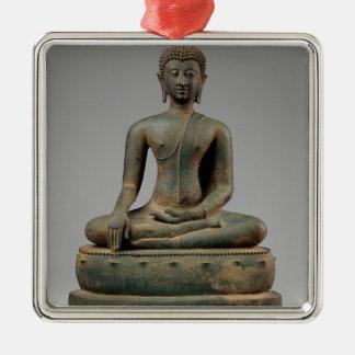 Ornamento De Metal Buddha - Tailândia assentados