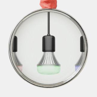 Ornamento De Metal Bulbos do diodo emissor de luz com cores
