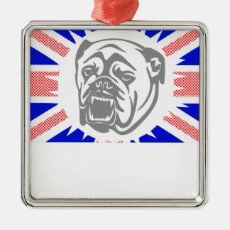 Ornamento De Metal Buldogue britânico