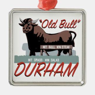 Ornamento De Metal Bull velha Durham