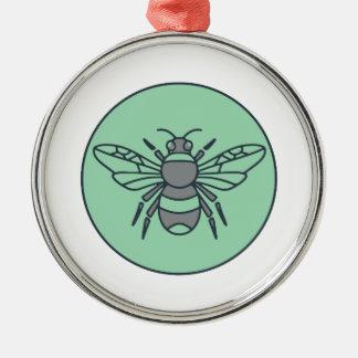 Ornamento De Metal Bumble linha do círculo da abelha a mono