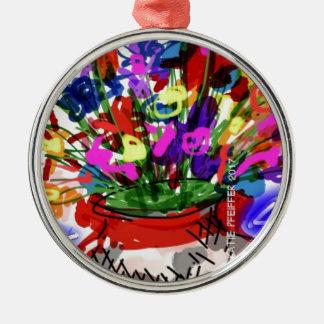 Ornamento De Metal Buquê 2017 da flor da modificação Digital