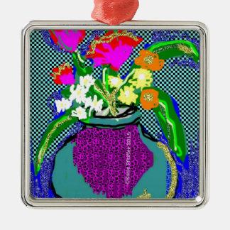 Ornamento De Metal Buquê da flor da modificação quando Im que sentem