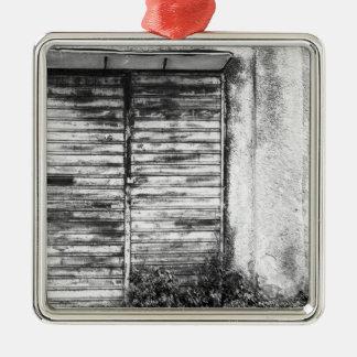 Ornamento De Metal Bw esquecido loja abandonado