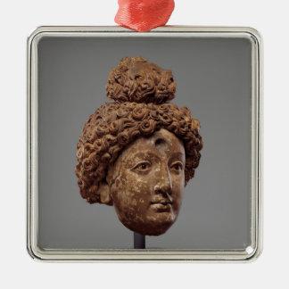 Ornamento De Metal Cabeça de um Buddha ou de um Bodhisattva
