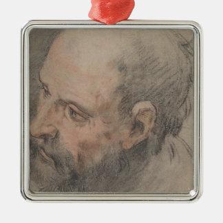 Ornamento De Metal Cabeça de um homem farpado que olha à esquerda