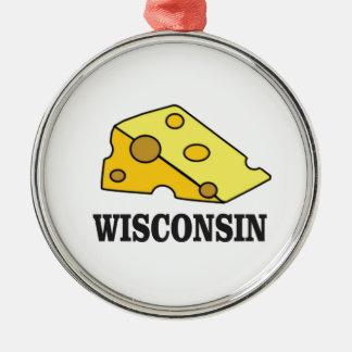 Ornamento De Metal Cabeça do queijo de Wisconsin