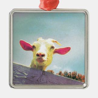 Ornamento De Metal cabra Cor-de-rosa-orelhuda
