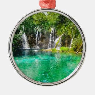 Ornamento De Metal Cachoeiras no parque nacional de Plitvice em