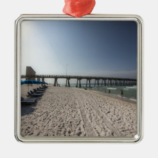 Ornamento De Metal Cadeiras de sala de estar no cais da praia da