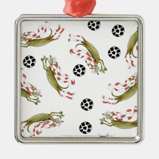 Ornamento De Metal cães do futebol dos vermelhos