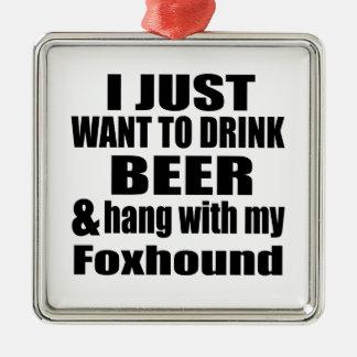 Ornamento De Metal Cair com meu Foxhound