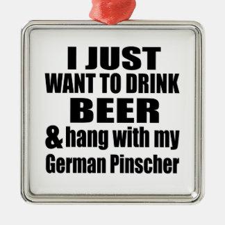Ornamento De Metal Cair com meu Pinscher alemão