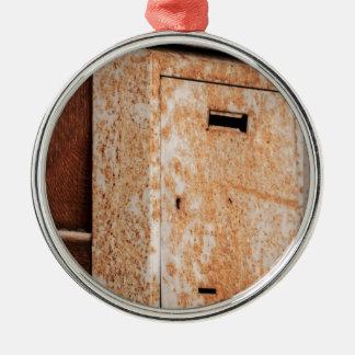 Ornamento De Metal Caixa postal oxidada fora