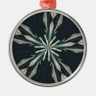 Ornamento De Metal Caleidoscópio da estrela do lírio de Calla