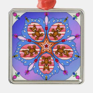 Ornamento De Metal Caleidoscópio dos ursos e das abelhas