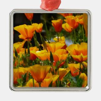 Ornamento De Metal Califórnia alaranjada Poppies_3.1
