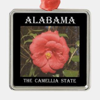 Ornamento De Metal Camélia de Alabama (vermelha)